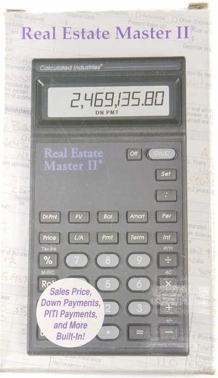 calculated industries real estate master ii calculator