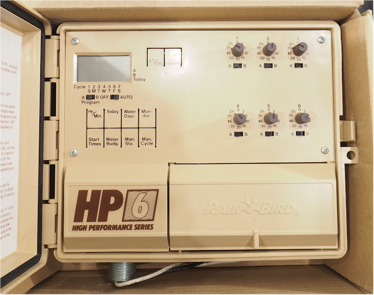 Details about NEW Rain Bird HP-6 6 Zone Automatic Sprinkler Timer *OLD  STOCK!* ++FREE SHIP!